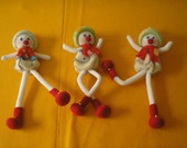 NATAL 2010 TRIO BONECO DE NEVE ART.