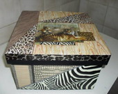 Caixa Tigre Vendida Arte Pincel R 120 00