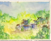Carto em aquarela - Favela 1