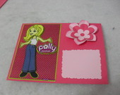 Convite Polly Pocket Cart�o Flor