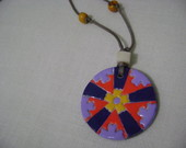 Colar de mandala em biscuit CP-15