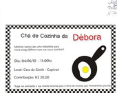 Convite Ch de Cozinha-Frigideira relevo