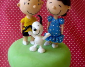 vidro decorado snoopy
