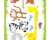 Papel de Parede recortado  Safari infant