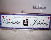 PLACA DE CARRO DECORATIVA PERSONALIZADA