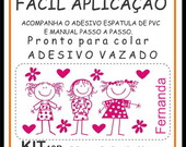 Adesivo papel de Parede Infantil KIT 10B