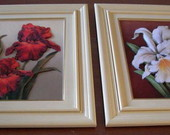 Quadros de orquideas em arte holandesa