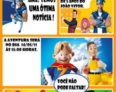 Convite Gibi - Lazy Town