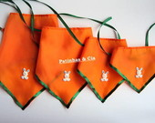 Bandanas Pscoa - PP, P, M ou G (10 un)