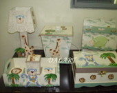 KIT DE BEBE SAFARI  8 PE�AS