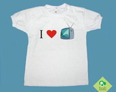 T-Shirt Beb e Infantil &quot;EU AMO TV&quot;