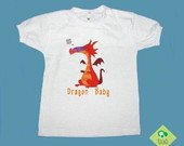 T-Shirt Beb e Infantil DRAGON BABY RED