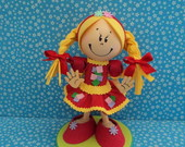 BONECA 3D TOY - MENINA CAIPIRA