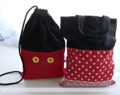 Mochila ou Bolsa Lembrana Mickey Minnie
