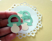 Aplique Baby Pacifier Green (A145)