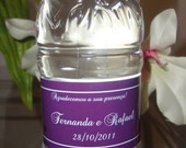Aguas personalizadas casamento