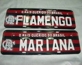 PLACA PERSONALIZADA DO FLAMENGO