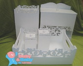 Kit Higiene Beb� Borda Floral