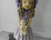 artesanato em biscuit - Boneca Lilas