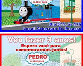 Thomas e seus amigos convite aniversrio