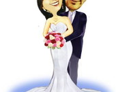 Arte Digital -Caricatura casal_casamento