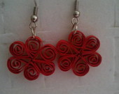 Brinco Rosa de quilling (cds)