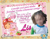 Convite Moranguinho Baby Rosa