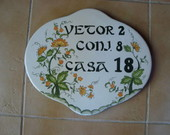 PLACA  DE NUMERO CASA GG SEM FERRAGEM
