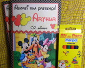 Caderninho colorir - Turma Disney