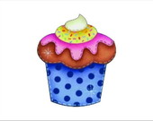 BOT003- BOTO CUPCAKE AZUL (6P)