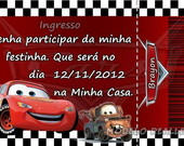 Convite Ingresso - Carros