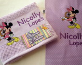 kit Coord Minnie (lavabo e lanche)