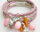 PULSEIRA PASCOA INFANTIL ROSA/NUDE