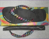 Chinelo com strass MULTICOLOR