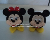 Enfeite de mesa Minnie ou Mickey.
