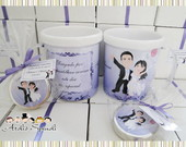 Caneca Acrlico personalizada -Casamento