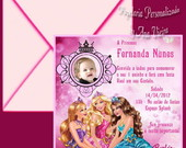 Convite Real Barbie Escola de Princesas