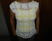 Blusa em croch branca