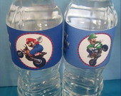 Agua personalizada Mario Brs e Luigi