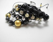 Conjunto de Macram e Shamballa Preto