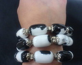 PULSEIRA COM MDF MESCLADO BRANCO E PRETO