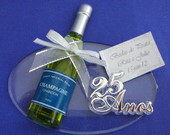 Placa Oval com Mini Champagne