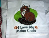 "Camiseta ""I Love My Maine Coon"""