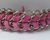 Pulseira corrente e camura pink