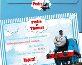Convite thomas e seus amigos