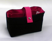 Organizador M Preto Liso/Pink
