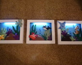 Quadros fundo do mar com LED