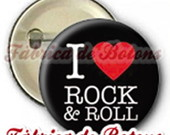 BOTON 2,5cm I LOVE ROCK & ROLL