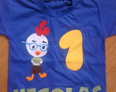 BODY OU CAMISETA CHICKEN LITTLE