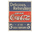 Quadro Decora��o Vintage Coca Cola Blue